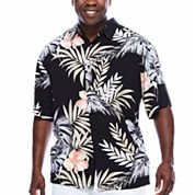 Havanera™ Rayon Allover Tropical Print Short Sleeve Shirt