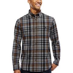 ARGYLECULTURE Long Sleeve Flanel Button Up Shirt
