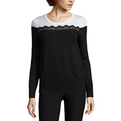 By And By Scoop Neck Pullover Sweater - Juniors