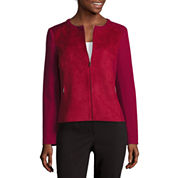 Liz Claiborne® Long-Sleeve Faux-Suede Jacket