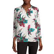 Liz Claiborne® Long-Sleeve Button-Front Soft Blouse