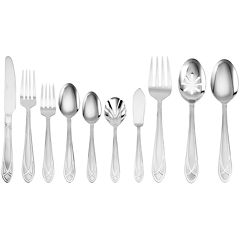 Pfaltzgraff® Everyday Mirage Frost 45-pc. Flatware Set with Wire Storage Caddy