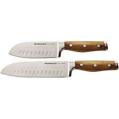 Rachael Ray® Cucina Cutlery 2-pc. Santoku Knife Set - Acacia Wood Handles