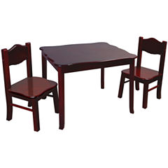 Guidecraft Classic Espresso Table and Chairs Set