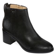 Liz Claiborne Serafina Leather Womens Bootie