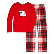 North Pole Trading Co Family Sleep Girls Long Sleeve Kids Pajama Set-Big Kid