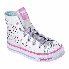Skechers® Twinkle Toes Shuffles Girls High Top Sneakers - Little Kids/Big Kids