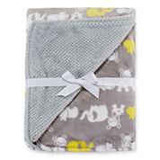 Okie Dokie® Reversible Plush Safari Blanket