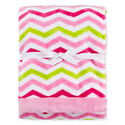 Okie Dokie® Plush Chevron Blanket