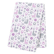 Trend Lab  Llama Friends Flannel Swaddle Blanket