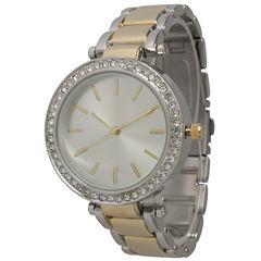 Olivia Pratt Womens Two Tone Bracelet Watch-14202two Tone