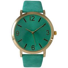 Olivia Pratt Womens Green Strap Watch-26268bteal