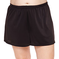 Azul by Maxine of Hollywood Solid Swim Shorts Plus