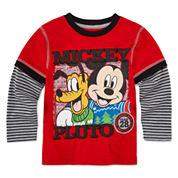 Okie Dokie Mickey Christmas T-Shirt - Toddler 2T-5T