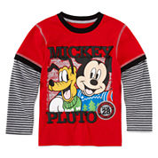 Okie Dokie Mickey Christmas T-Shirt - Preschool 4-7