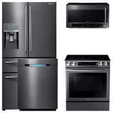 Samsung 4-pc. Electric Kitchen Package - Black Stainless