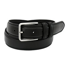 Stacy Adams® Leather Belt with Double Keeper