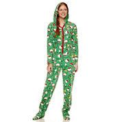 Hello Kitty Long Sleeve Footed Pajamas-Juniors