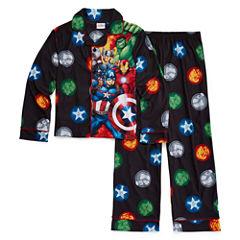 Marvel Avengers Coat Front Pajama Set- Boys 4-10