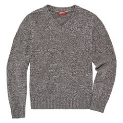 Arizona V Neck Long Sleeve Pullover Sweater - Big Kid