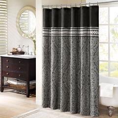 Madison Park Denton Jacquard Shower Curtain