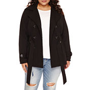 Jou Jou Multi-Zip Trench Jacket - Juniors Plus