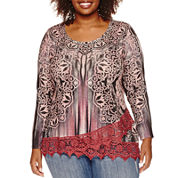 Unity® Long-Sleeve Snit with Layered Lace Trim