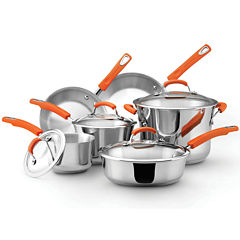 Rachael Ray® 10-pc. Stainless Steel Cookware Set