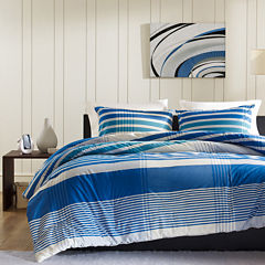 INK+IVY Connor Plaid Duvet Cover Set