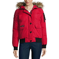 Canada Weather Gear Bomber Jacket With Faux