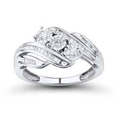 Love Lives Forever 1/2 CT. T.W. Round White Diamond 10K Gold 3-Stone Ring