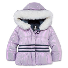 S Rothschild Girls Midweight Puffer Jacket-Toddler