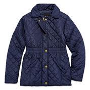Girls Lightweight Puffer Jacket-Big Kid