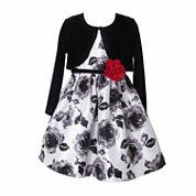 Lilt Girls Long Sleeve Jacket Dress