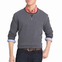 IZOD Long-Sleeve Stripe Fleece Sweater