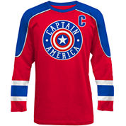 Novelty Season Short Sleeve Captain America Graphic T-Shirt