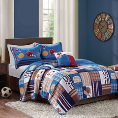 Mi Zone Sports Patch Quilt Set