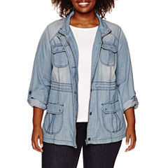 St. John's Bay Denim Jacket-Plus