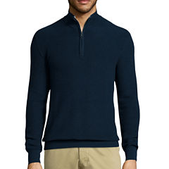 Claiborne® Long-Sleeve Thermolite Quarter-Zip Sweater