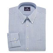 Stafford® Long-Sleeve Travel Wrinkle-Free Oxford Dress Shirt