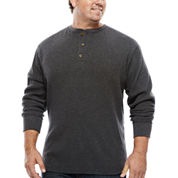 The Foundry Big & Tall Supply Co.™ Long-Sleeve Waffle Henley Shirt