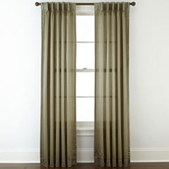 Royal Velvet® Hilton Pinch-Pleat/Back-Tab Curtain Panel