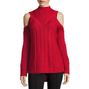 Nicole By Nicole Miller Cold Shoulder Cowl Neck Sweater