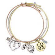 Messages from the Heart® by Sandra Magsamen® 3-pc. Love Bangle Bracelet Set