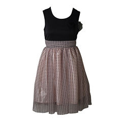 Pinky Polka Dot Ballerina Dress - Girls 7-16