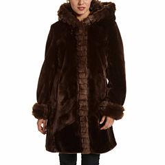 Excelled® Faux-Fur Short Solid Coat
