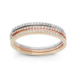 Womens 1/3 CT. T.W. White Diamond 10K Gold Band