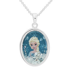 Disney Elsa Girls Oval Shaker Pendant Necklace