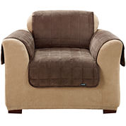 SURE FIT® Quilted Velvet Deluxe Chair Pet Furniture Cover