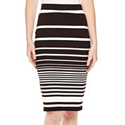 Liz Claiborne® Textured Striped Midi Pencil Skirt - Tall
